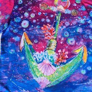 NWT Leoma Lovegrove Anchor Art Top